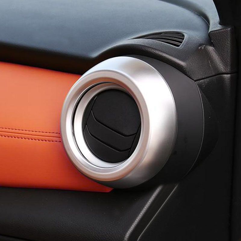 Car Accessories For Nissan Kicks 2017 2018 ABS Interior Side Air Vent Outlet Frame Cover Trim Car Interior Styling