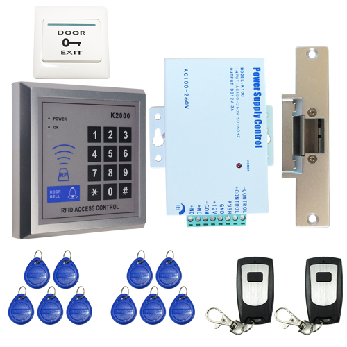 Wholesale RFID Card Keypad Reader Door Access Control System Kit + Strike Door Lock + 2 Remote Control IN STOCK Free Shipping brand new white rfid entry access control system kit set strike door lock rfid keypad exit button in stock free shipping page 8