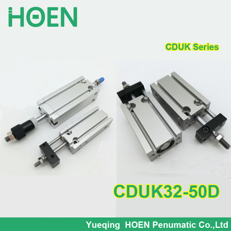 CDUK32-50D SMC type double acting Non-rotating rod bore 32mm stroke 50mm aluminum alloy pneumatic air cylinder general model cxsm32 50 compact type dual rod cylinder double acting 32 40mm