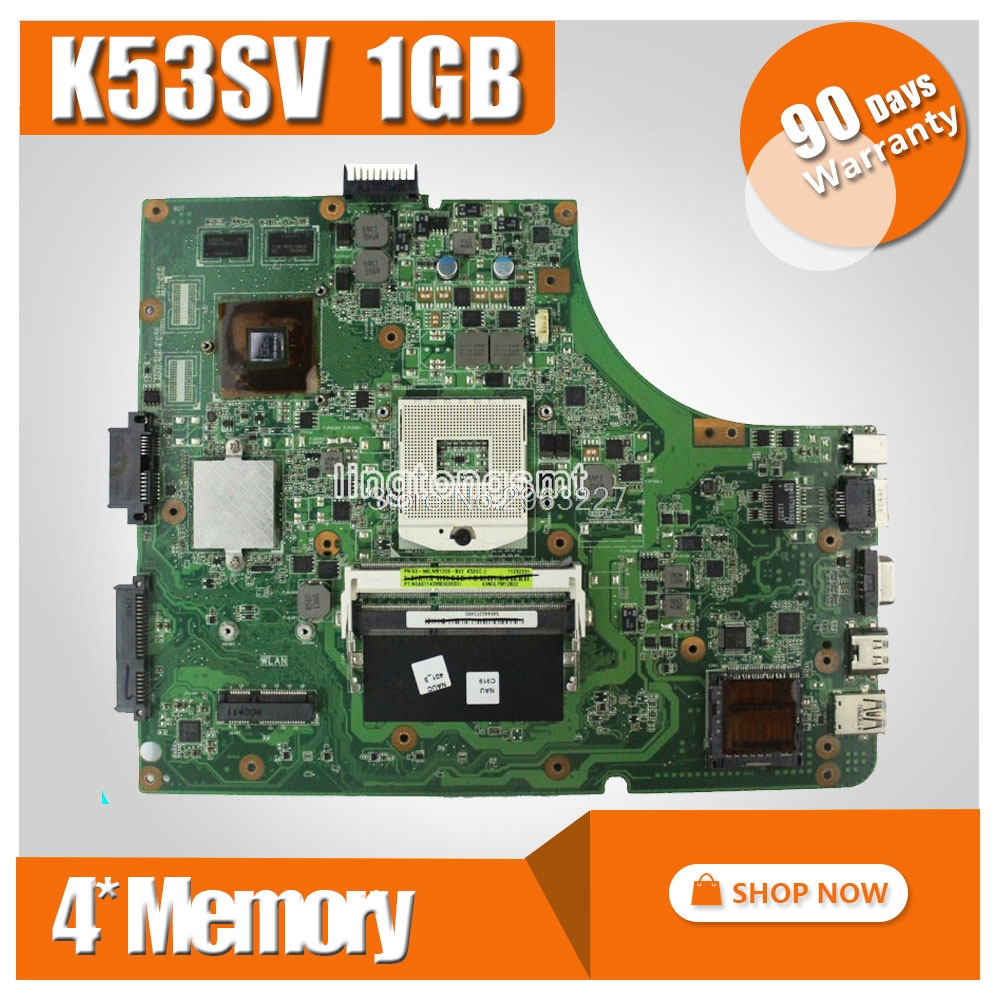 Original for ASUS X53S A53S K53SJ K53SC P53S K53SM K53SV laptop motherboard 2.1,2.3,3.0,3.1 DDR3 mainboard fully tested sheli k53sv motherboard for asus x53s a53s k53sj k53sc p53s k53sm k53sv laptop motherboard 2 1 2 3 3 0 3 1 original tested