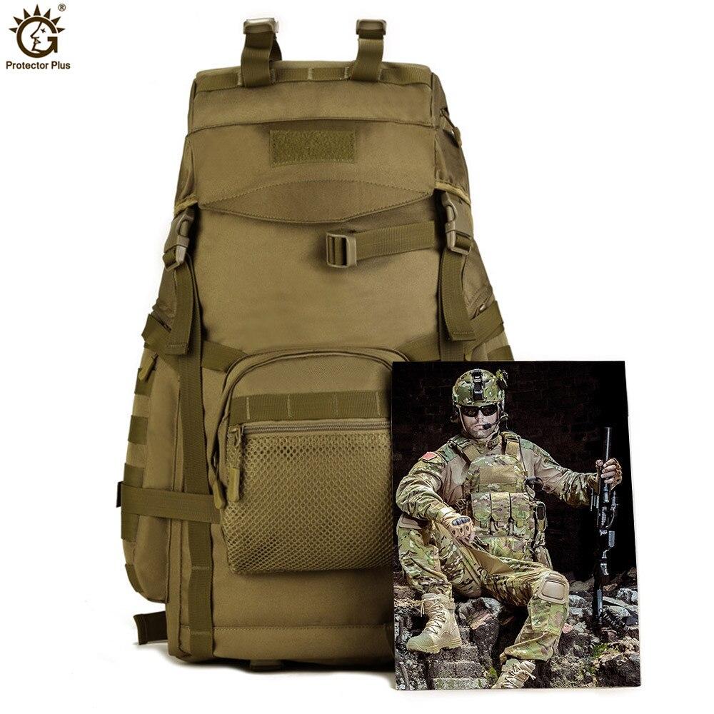 60L sac à dos de grande capacité en plein air tactique Molle armée sac à dos hommes militaire sac à dos escalade Sport sac de voyage Mochila - 6