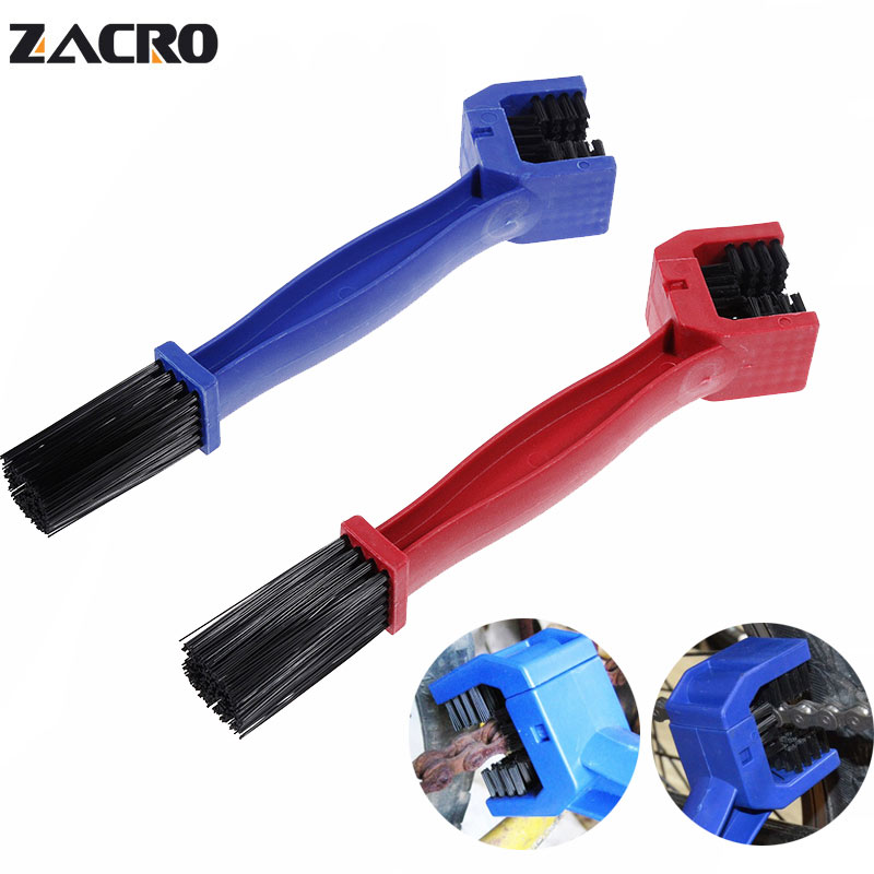 Zacro Motorcycle Chain Cleaner Plastic Bike Bicycle Moto Brush Cycling Clean Chain Cleaner Outdoor Scrubber Tool for Road MTB bike chain protector cleaner cycling repair tool brushes scrubber wash kit pro road mtb bike bicycle chain cleaner tools sets