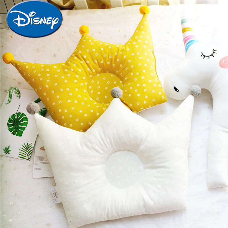 цена на Disney pure cotton baby Pillow stereotypes Pillow for baby against slant head memory pillow summer breathable