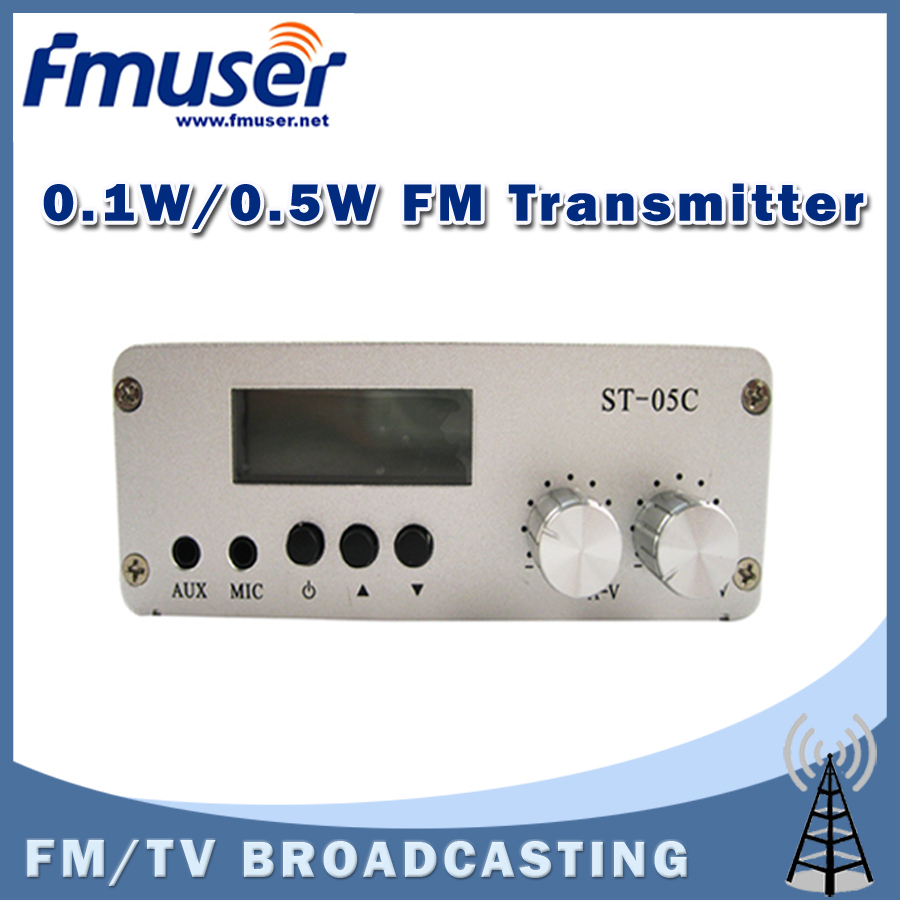 Free Shipping FMUSER ST-05C 0.1W/ 0.5W FM transmitter Stereo PLL Radio Broadcast USB Charge free shipping fmuser fsn 150k 150w fm broadcast transmitter assemble pcb kit