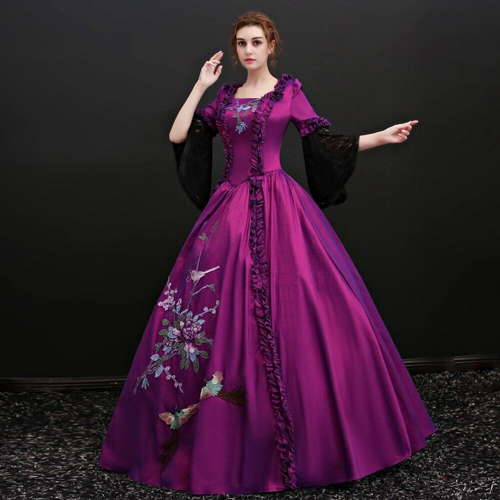 Encaje negro púrpura bordado Venecia carnaval reina bola princesa ...