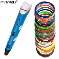 Myriwell 3D Printer Pen RP-100A Christmas gift Hot selling Draw 3D printing Pen With ABS Filament threads Arts Printer for kids