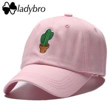 Cactus Ladybro Bordado de La Manera Mujeres de Los Hombres Gorra de béisbol Del Casquillo Del Sombrero masculino Casual Snapback Hip Hop Gorras Casquillo de La Señora Drake Papá sombrero