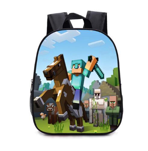 12 Inch Minecraft Cartoon Bag School Bag Child Backpack Primary School Boy Girl Student Bag Girl Child Kindergarten Backpack