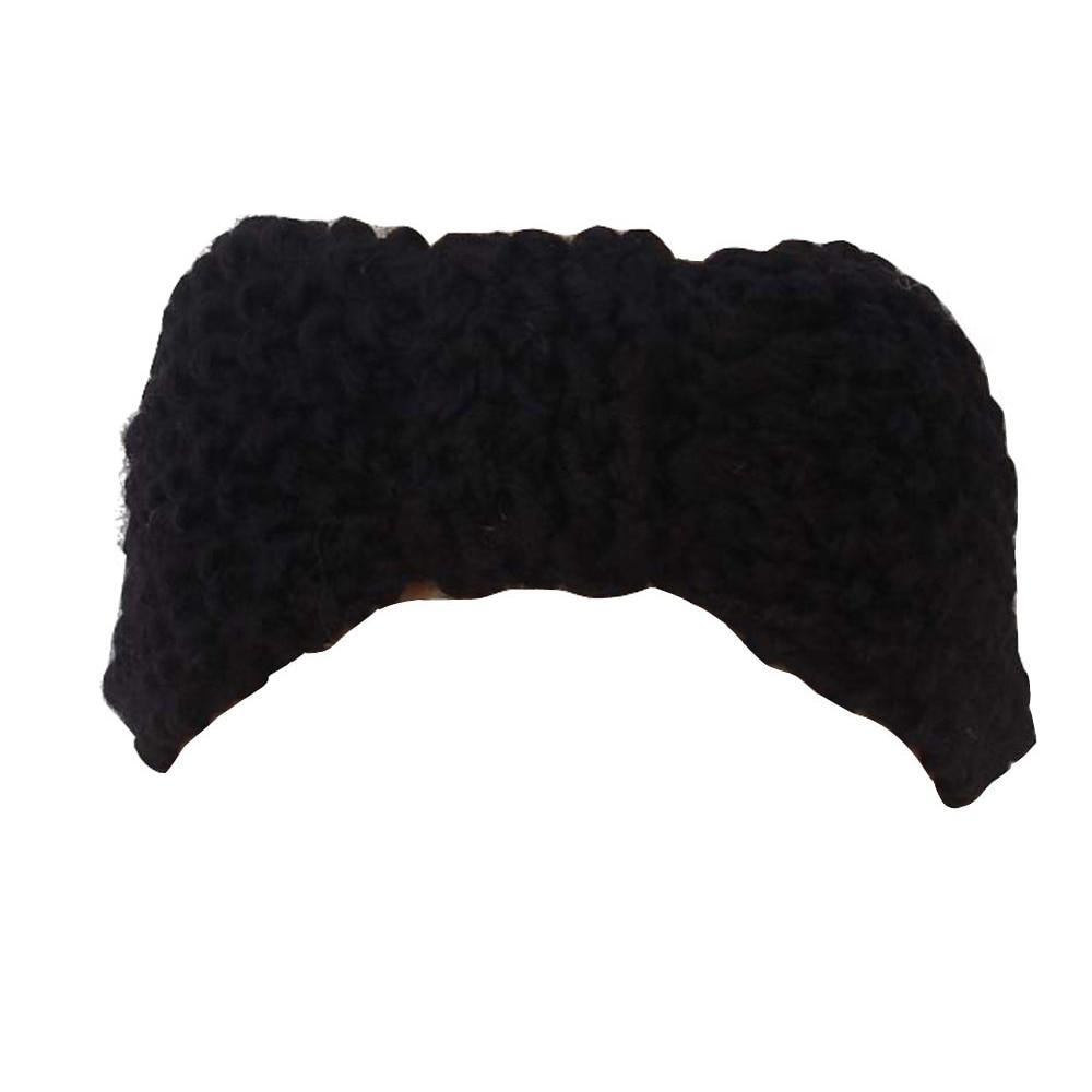 ᐃHTHL! pelo de la venda del arco del ganchillo Headwrap hecho punto ...