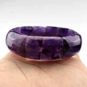 Натуральные аметистские каменные бусины, ювелирные изделия, браслет для женщины, камень Стрельца, Водолей, оптовая продажа!