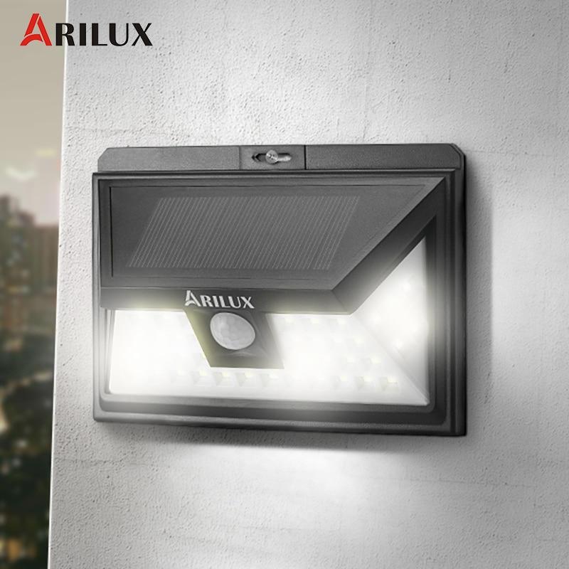 ARILUX AL-SL11 44 <font><b>LED</b></font> Solar Light Outdoor Waterproof PIR <font><b>Motion</b></font> Sensor Solar Power <font><b>LED</b></font> Garden Light Pathway EmergencyWall Lamp