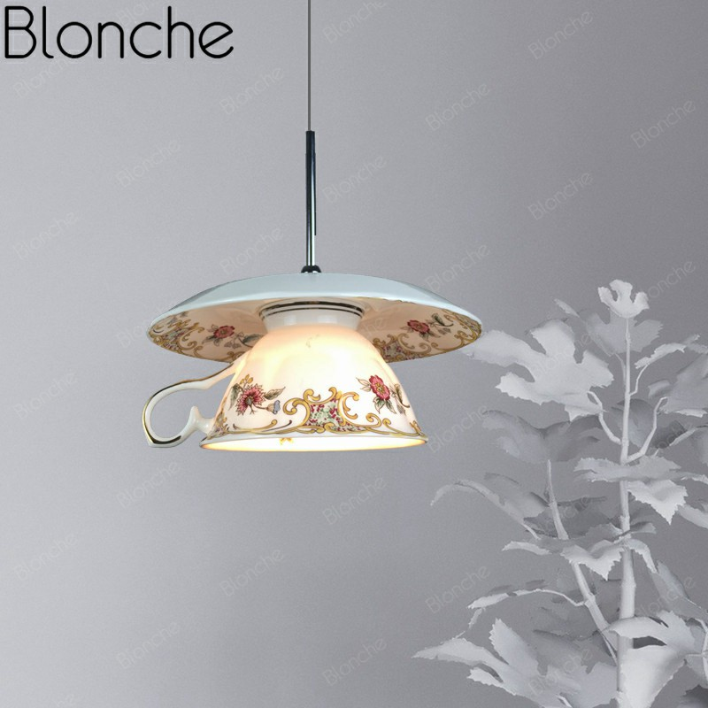 Modern Ceramic Pendant Lights Chinese Style Led Hanging Lamp For Living Room Kitchen Bedroom Home Decor Loft Porcelain Fixtures