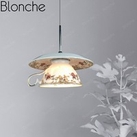 Modern Ceramic Pendant Lights Chinese Style Led Hanging Lamp for Living Room Kitchen Bedroom Home Decor Loft Porcelain Fixtures