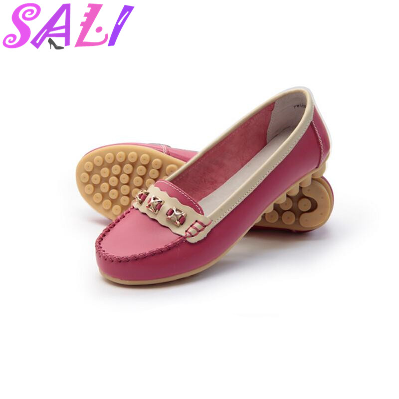 10 colors in spring and summer soft leather tendon at the end Peas shoes flat comfortable shoes womens singles