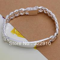 Factory Price Wholesale 925 Sterling Silver 10mm Bracelet For Men 8 Free Shipping H181