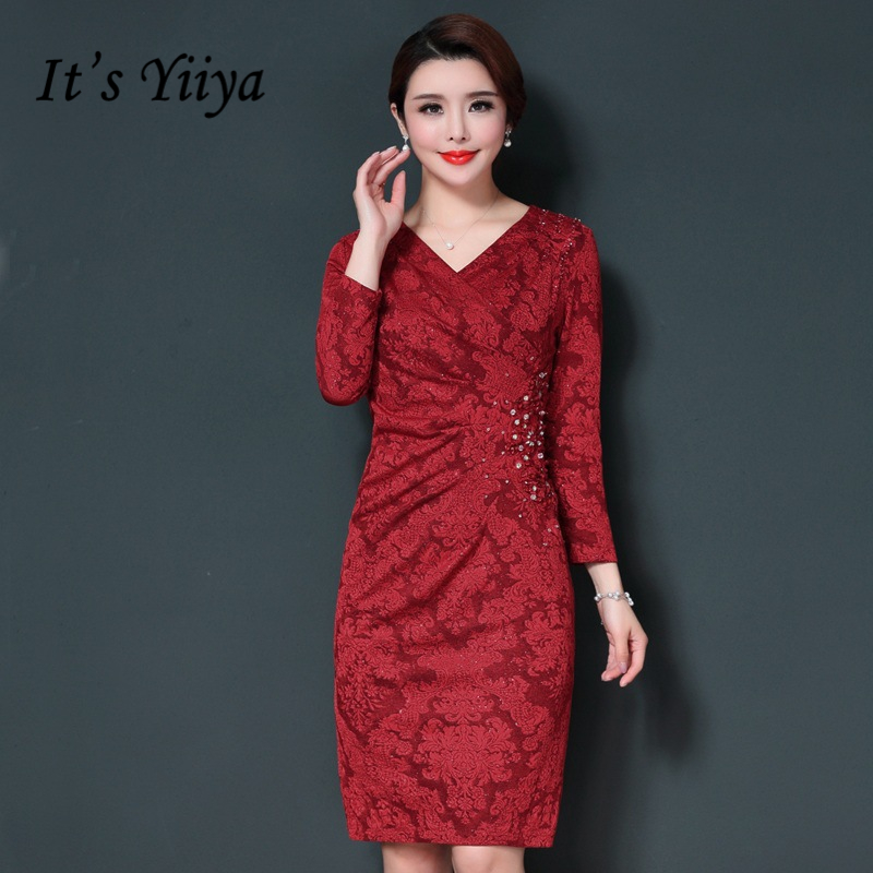 It's Yiiya Mother Of The Bride Dresses Plus Size V Neck