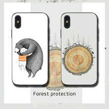 Bear and forest Phone Cases Cover for iphone X XR XS MAX 6 6s 7 8 Plus TPU Cover Coque For iphone 7 8Plus iphone 5SE Cases rick and motry phone cases cover for iphone x xr xs max 6 6s 7 8 plus tpu cover coque for iphone 7 8plus iphone 5se cases