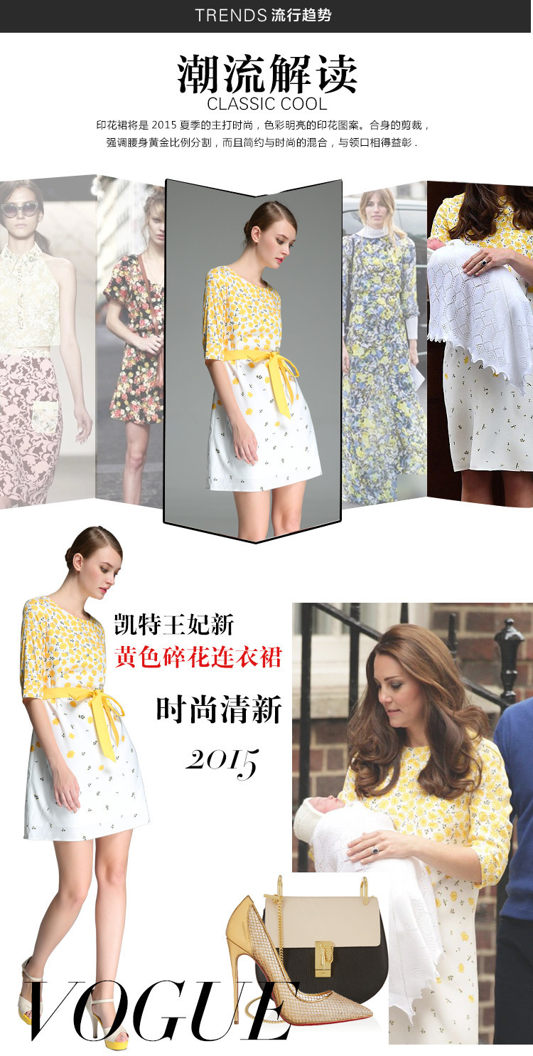922b9dc0242cc1 2015 Zomer Nieuwe Collectie Elegante Kate Middleton Jurk Prinses ...