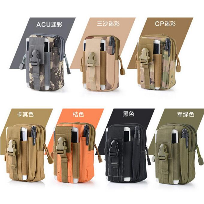 New military Male Waist pack nylon hanging bags multi-function leisure water proof cell phone bag hanging bag chest package girl