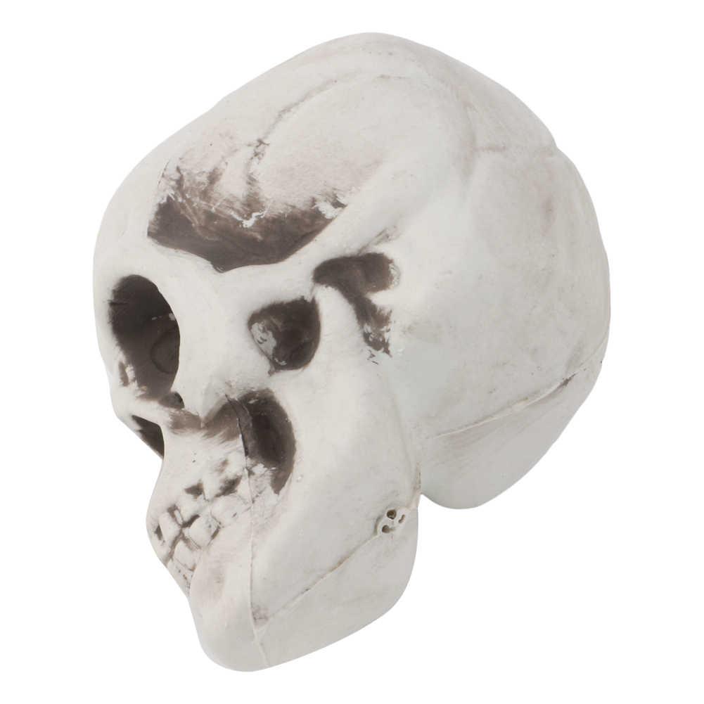 2019 plástico humano Mini cráneo decoración Prop esqueleto cabeza Halloween barras de café ornamento