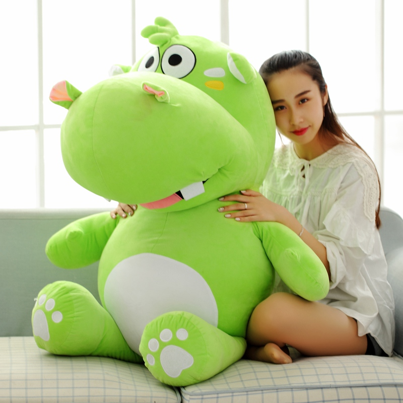 stuffed toy huge 120cm cartoon fat hippo plush toy green hippo doll hugging pillow Christmas gift w2529 the huge lovely hippo toy plush doll cartoon hippo doll gift toy about 160cm purple