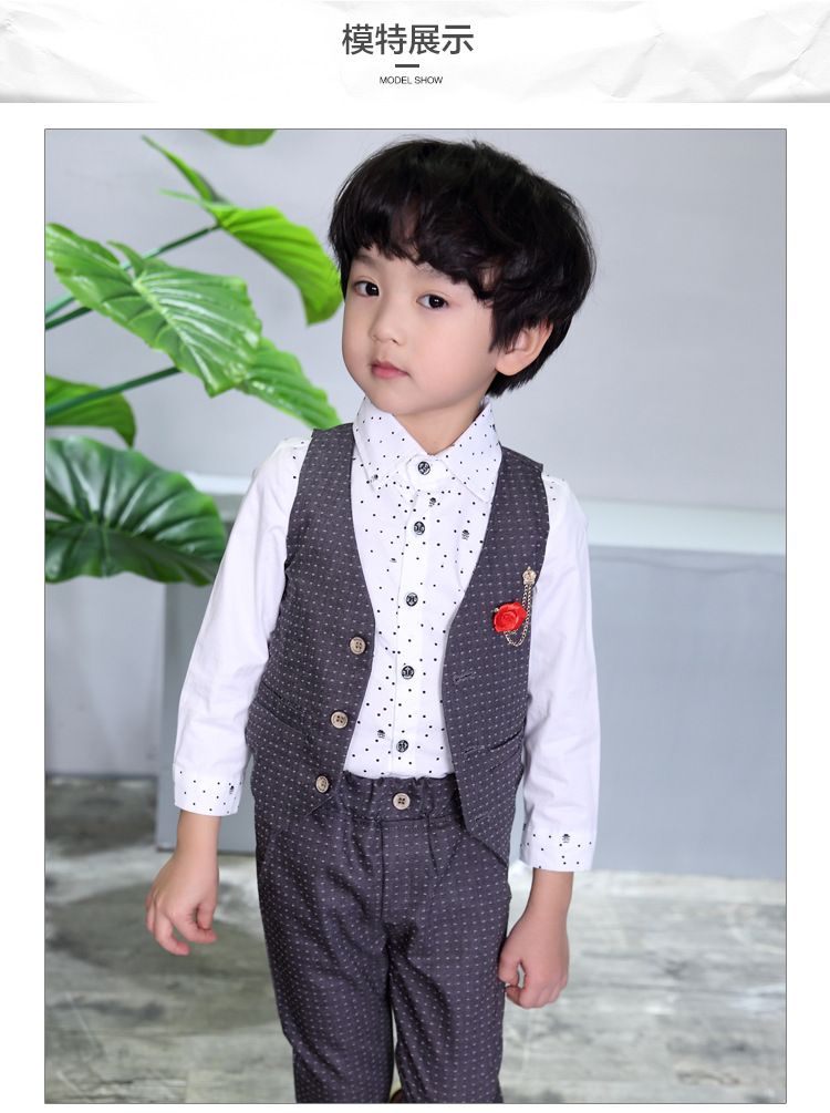 Children Hemp Vest Suits for Boys Brand England Style Kids Summer Weddings Suits in Clothing Sets from Mother Kids