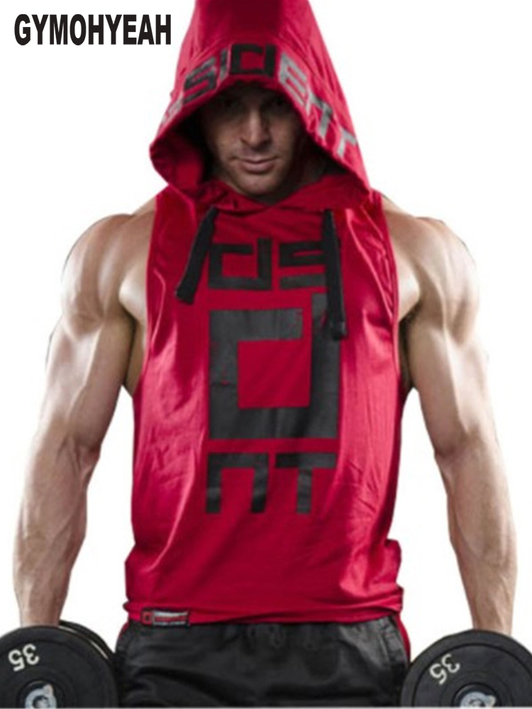 GYMOHYEAH Brand Clothing Fitness   Tank     Top   Men Stringer Golds Bodybuilding Muscle Shirt Workout Vest gyms Undershirt