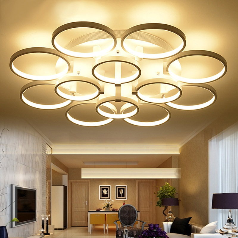 Round aluminum acrylic LED ceiling light Living room bedroom dining room study lamp Commercial lighting ceiling lamps AC110-240V