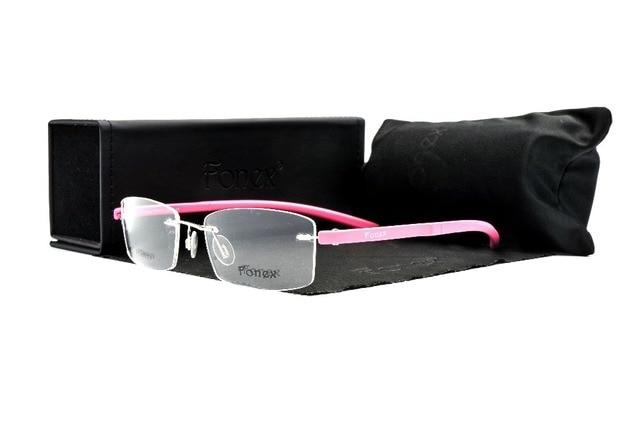 5c3046ed4 Mulheres homens prescrição óptica quadro original marca titanium liga  silhouet óculos sem aro óculos de armação
