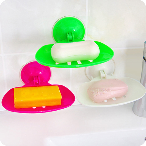 Home Bathroom Accessories Vacuum Strong Wall Suction Cup Box Soap Holder