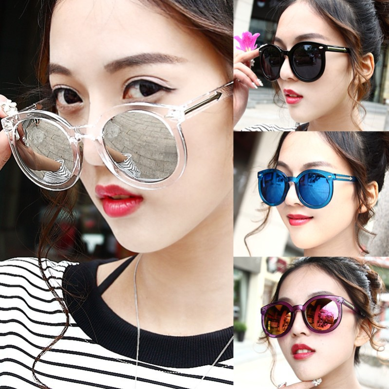 2016 New Fashion Small Round Sunglasses Female Retro Large Frame