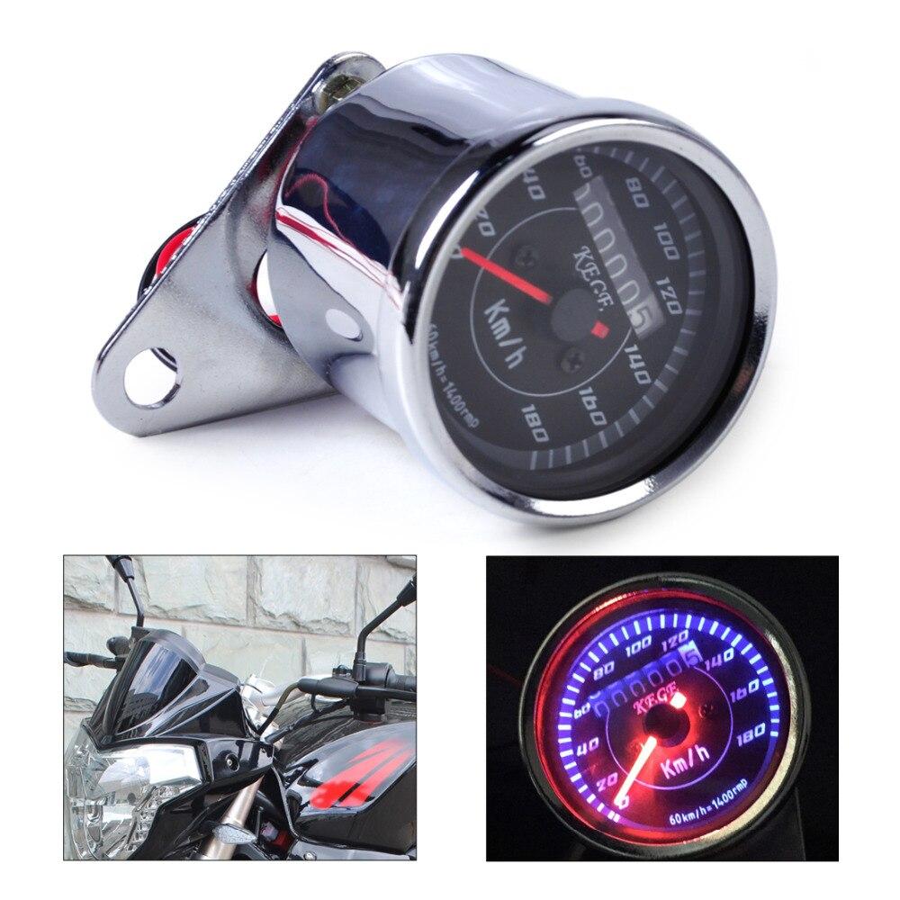 Beler Double Tachymètre D'odomètre Gauge Speedo Mètre LED Rétro-Éclairage pour Moto Pour Honda Yamaha Kawasaki Suzuki KTM Choppers