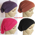 Real Women Limited 2016 Muslim None Instant Tube Bonnet Hat Headband Pure Hijabs Underscarf Inner Caps 25*31cm Free Shipping