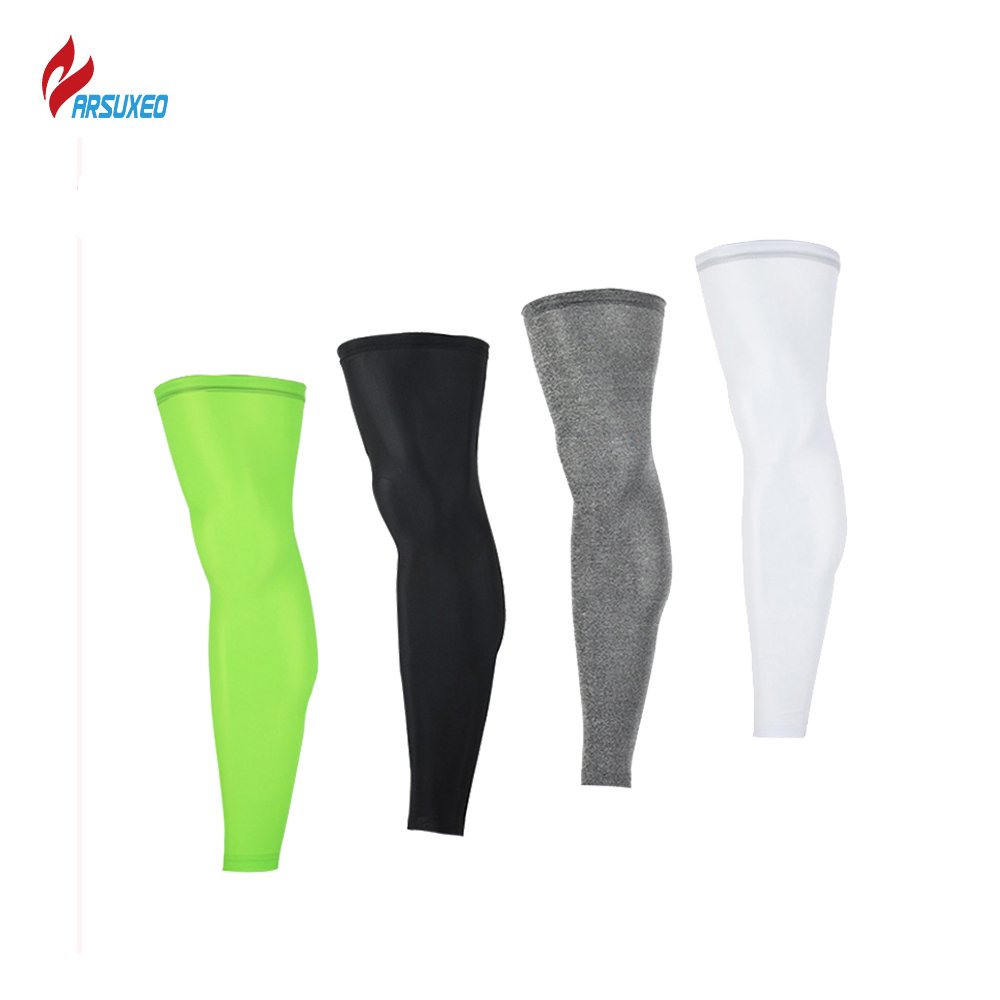 ARSUXEO Outdoor Sports Cycling Legwarmers Football Soccer Leggning Running Jogging Leg Compression Sleeve Cycling Socks TT01