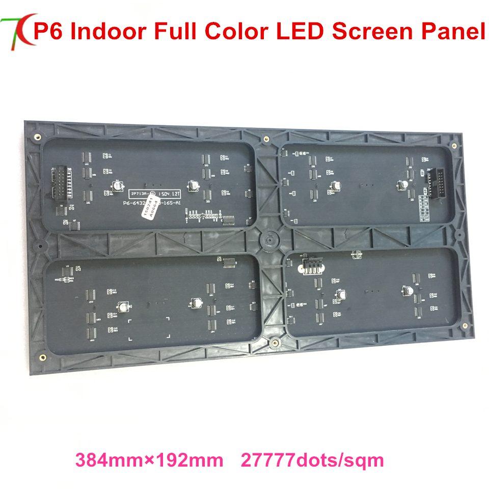 384mm*192mm P6 Indoor 16scan Full Color Led Module Widely Use For Led Video Wall Led Display