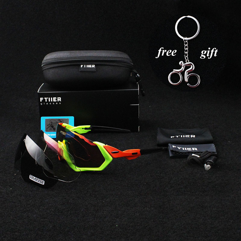 2018 BRAND NEW TR90 Frame Polarized UV400 Lens Cycling woman Sunglasses Glasses man Bike Bicycle GLasses 3 Lens Tour de France two tone frame round lens sunglasses