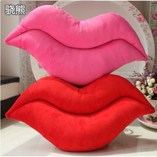 Hot New Creative Novelty Funny Cushion Pink Red Lip Plush Toy Throw Pillow  For Couch Soft