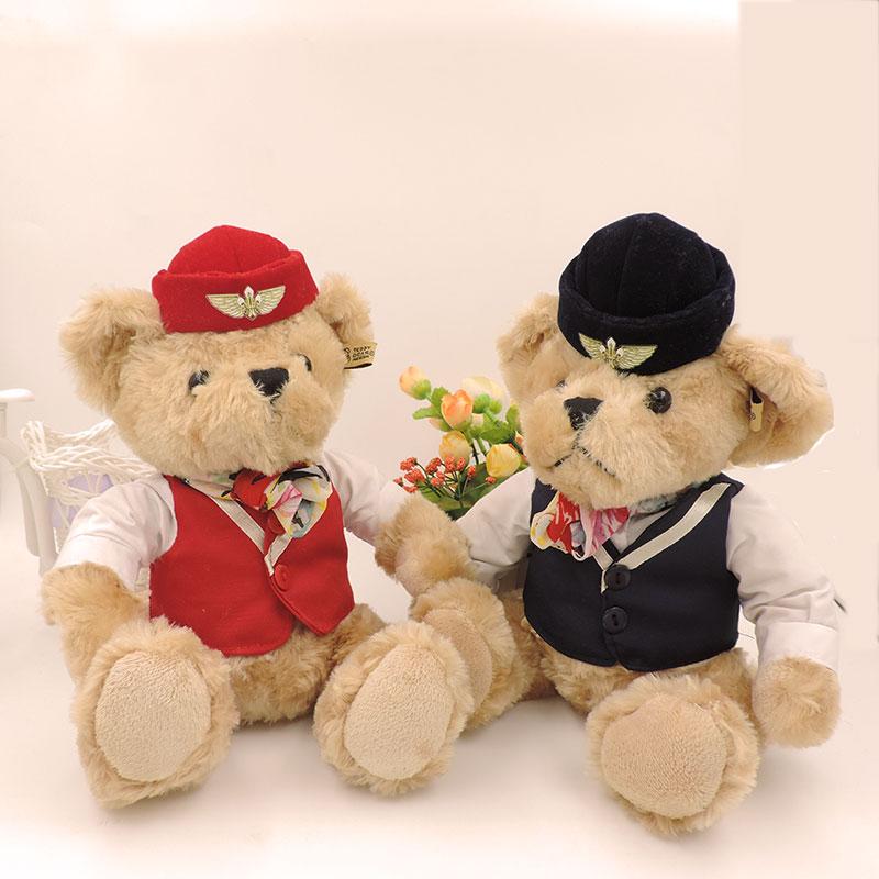 Soft Toys For Toddlers Religious : Cm stuffed teddy bear plush toys stewardess dressed