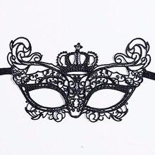1Pcs Black Women Sexy Lace Eye Mask Party Masks For Masquerade Halloween Venetian Costumes Carnival Mask For Anonymous Mardi New 1pcs black women sexy lace eye mask party masks for masquerade halloween venetian costumes carnival mask for anonymous mardi