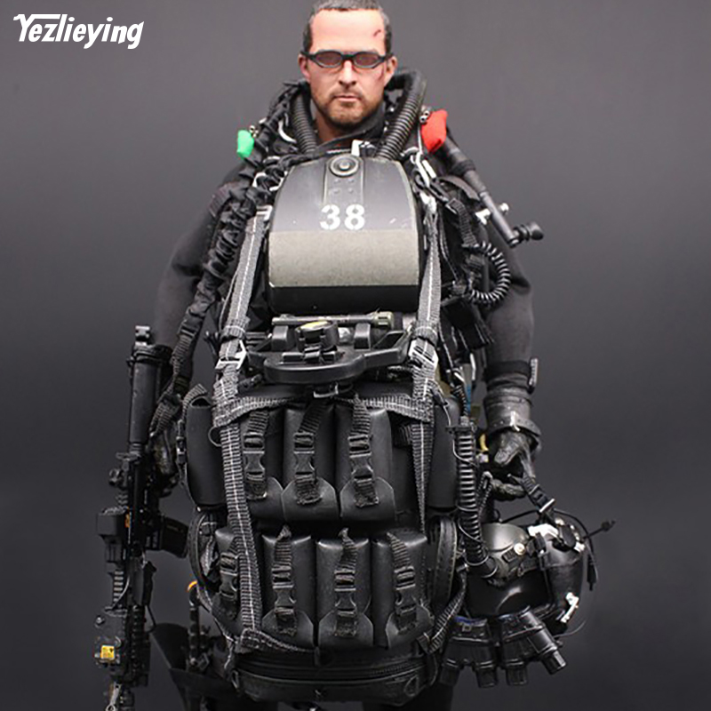 Collectible Figures Model Toys M004 1/6th US Mini times Navy Seal toys Open high low Halo UDT Jumper 12