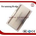 Precisão molde de metal de alumínio para samsung galaxy s6 edge g9250 refurbish quebrado tela de vidro quadro fixador alinhamento moldes
