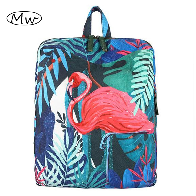Tropical Rain Forest Koala And Flamingo Printing Backpack Cartoon 3D Animal Backpack School Bags For Teenager Girls And Boys swing sloth explore the rain forest