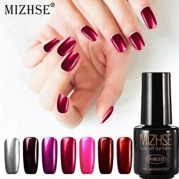 MIZHSE Titanium Red Gel Varnish Mirror Metal Bright Rose Red Mirror Nail Glue Gel polish UV Gel Nail Lacquer Red Metal Titanium