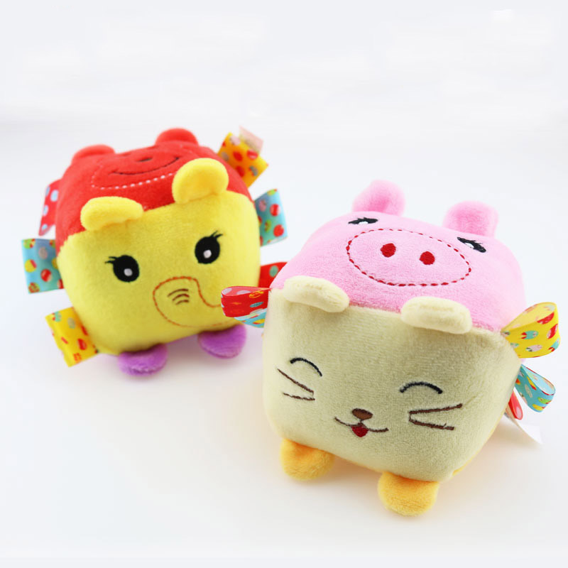 0 3years Baby Toys Bb Fabric Rattles In Many Different Animal Face Enlightenment Cognitive Toys Children Soft Toys