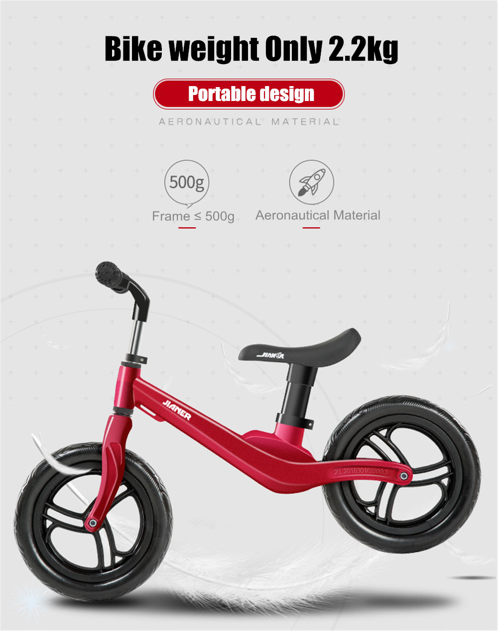 """HTB1u.MlbffsK1RjSszgq6yXzpXaH 12"""" Push Balance Bike Ultralight Kids Riding Bicycle for 1- 4 Years Baby Walker Scooter No-Pedal Learn To Ride Pre Bike EVA Tire"""