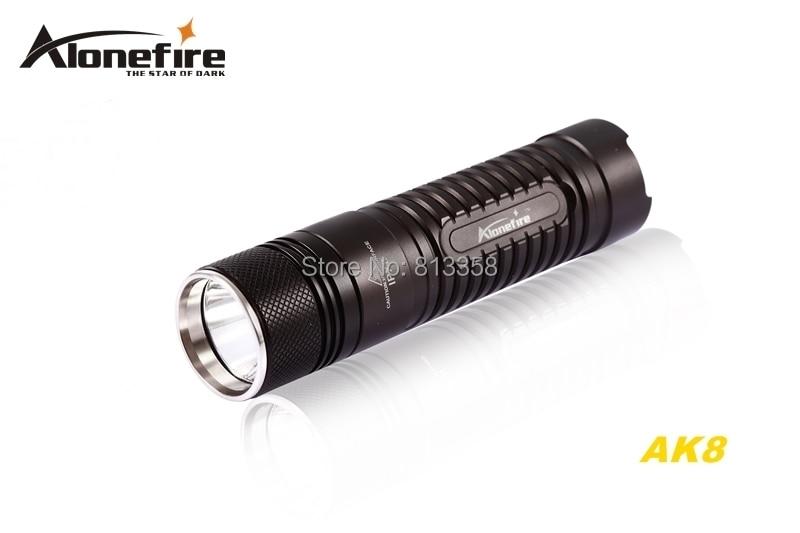 ФОТО AloneFire AK8 CREE XM-L2 LED 3mode HA III Military grade hard anodized mini lightweight flashlight torch light For 18650 battery