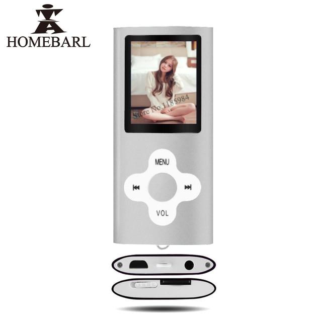 "HOMEBARL 4th מיני 1.8 ""LCD MP4 נגן וידאו סרט נגני מוסיקה מתכת עם FM רדיו תמיכת 4 GB 8 GB 16 GB מיקרו SD כרטיס PK 3th"