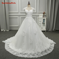 Backlake Girls 100 Real Photos High Quality A Line Lace With V Neck Appliques Beads Backless