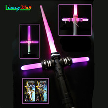 1PCS Boy Gril Gift Lightsaber Star  Laser Sword Luminous Music Telescopic Children's Outdoor Toys Cosplay Flashing Sword все цены