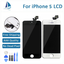 Black 100% Guarantee A+++ Display for Iphone 5 LCD Touch Screen Digitizer Assembly with tools Replacement Black and White Screen